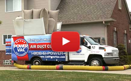 Air Duct Cleaning Services Sterling Heights MI - Dryer Vent Cleaners | Power Vac - truck